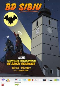 Affiche de l'édition 2014 du Festival International de BD de Sibiu